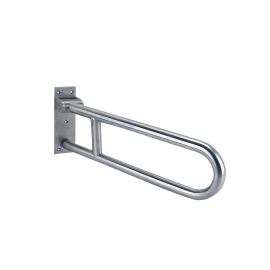 Hinged softy grab bar