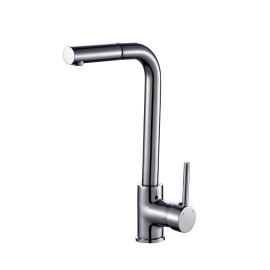 Sink mixer, swivel spout, extractable pull out handspray integrated