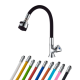 Colorful single water faucets with tricorn